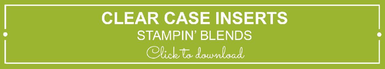 Stampin' Blends - Free Printable Insert for storage | kelly kent