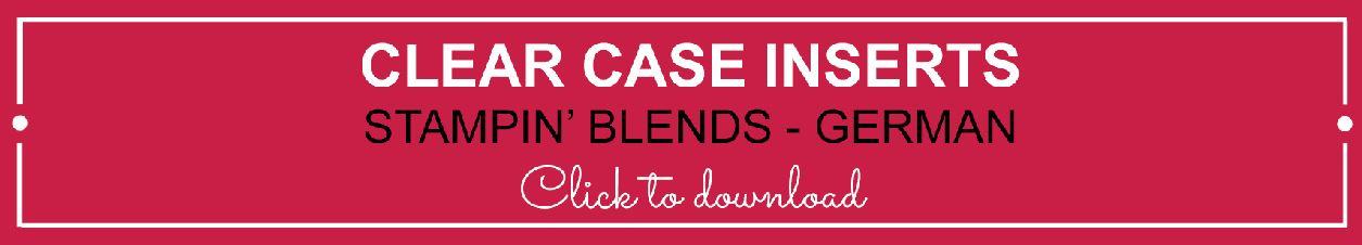 Clear Case Insert - Stampin' Blends German | kelly kent