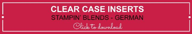 Clear Case Insert - Stampin' Blends German | kelly kent