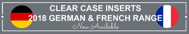 Clear Case Inserts - Available in French & German | kelly kent