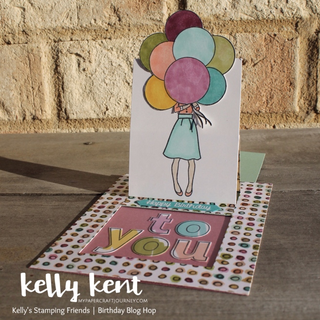 Hand Delivered Pop Up Slider Card | kelly kent