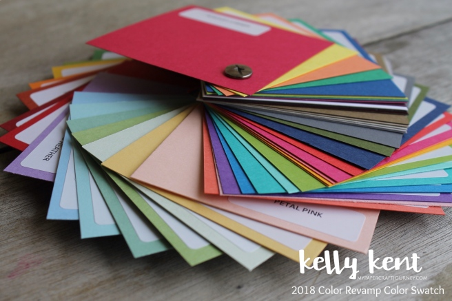 2018 Stampin' Up! Color Revamp Color Swatch - Buy Now | kelly kent