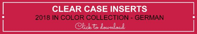Clear Case Insert 2018 In Color German | kelly kent