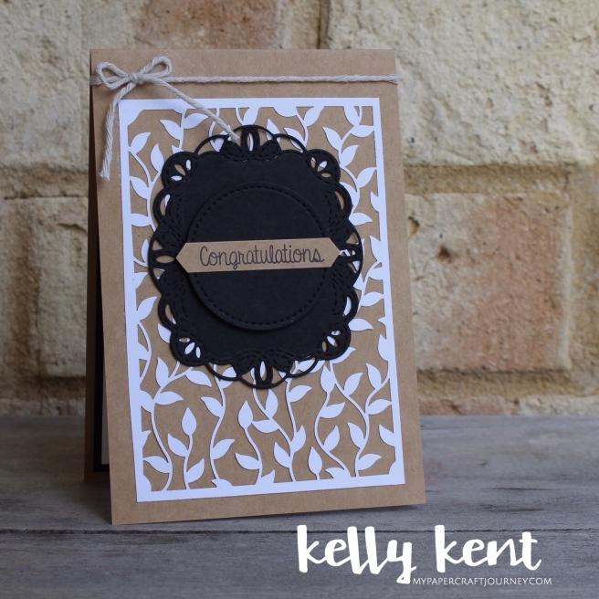 Delightfully Detailed Wedding Card | kelly kent