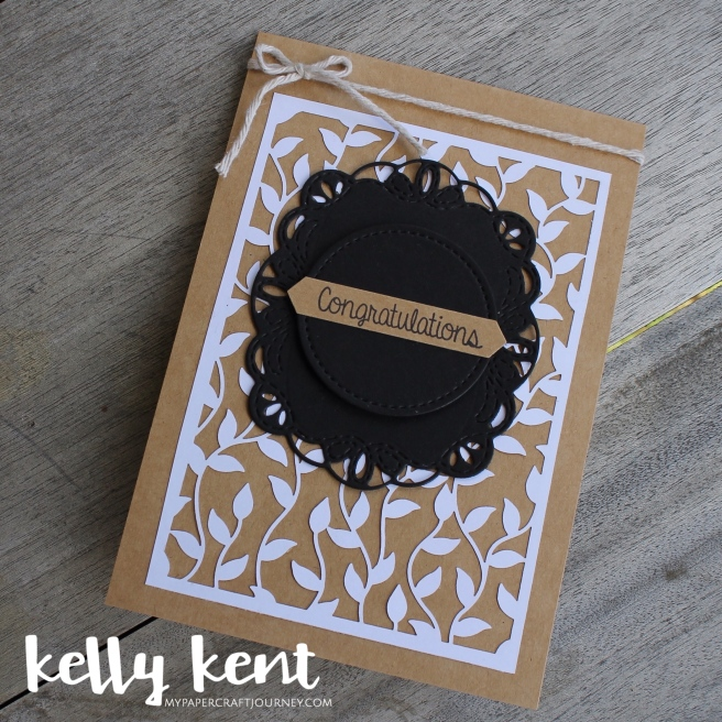 Delightfully Detailed Wedding Card | kelly kent