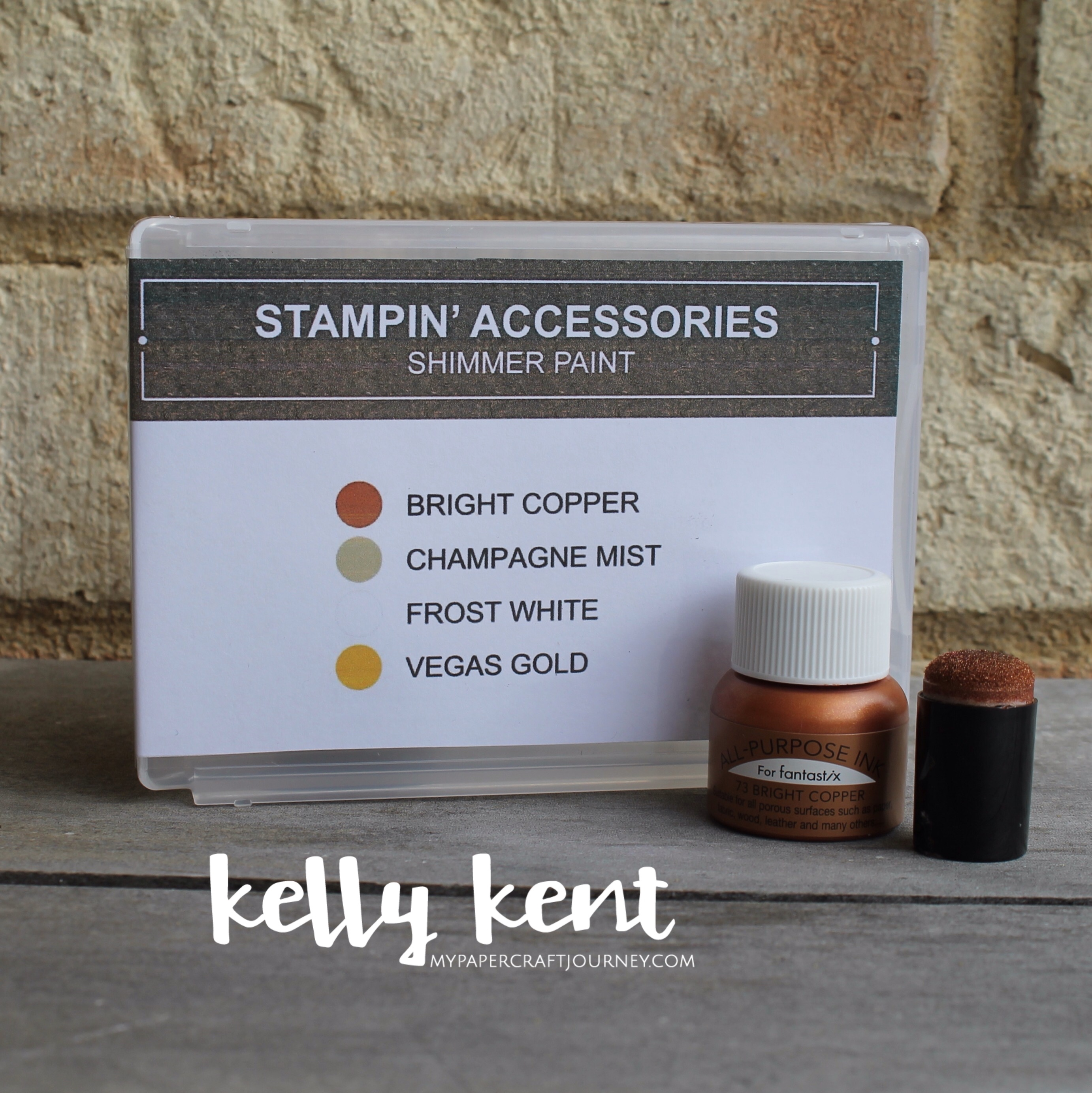 Clear Case Insert - Shimmer Paint | kelly kent