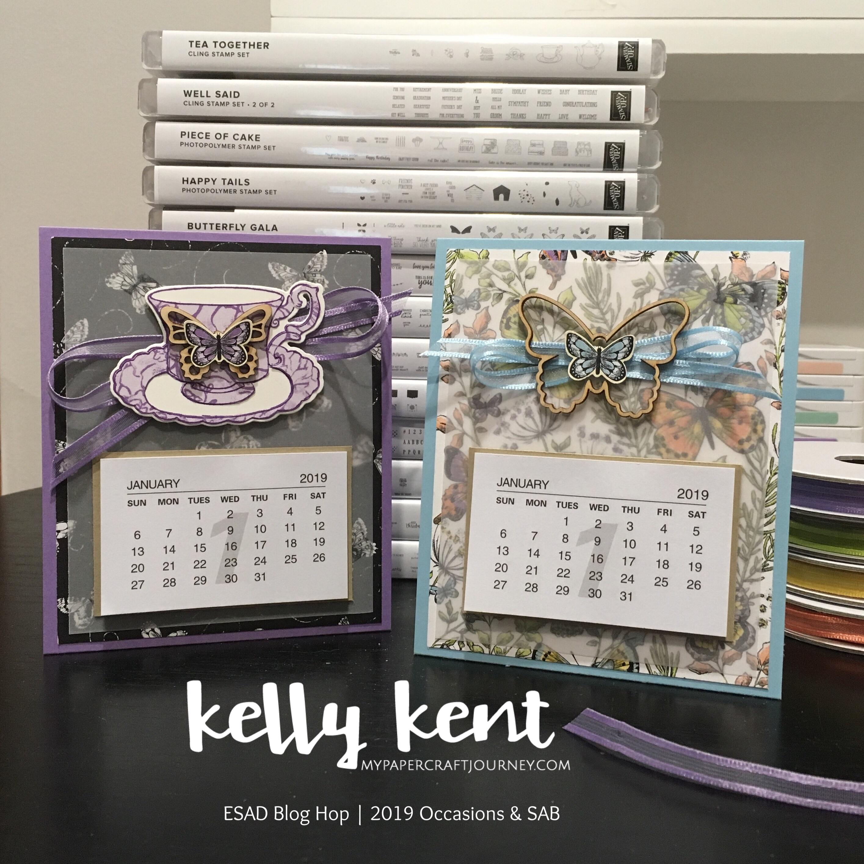 Butterfly Desk Calendar | kelly kent