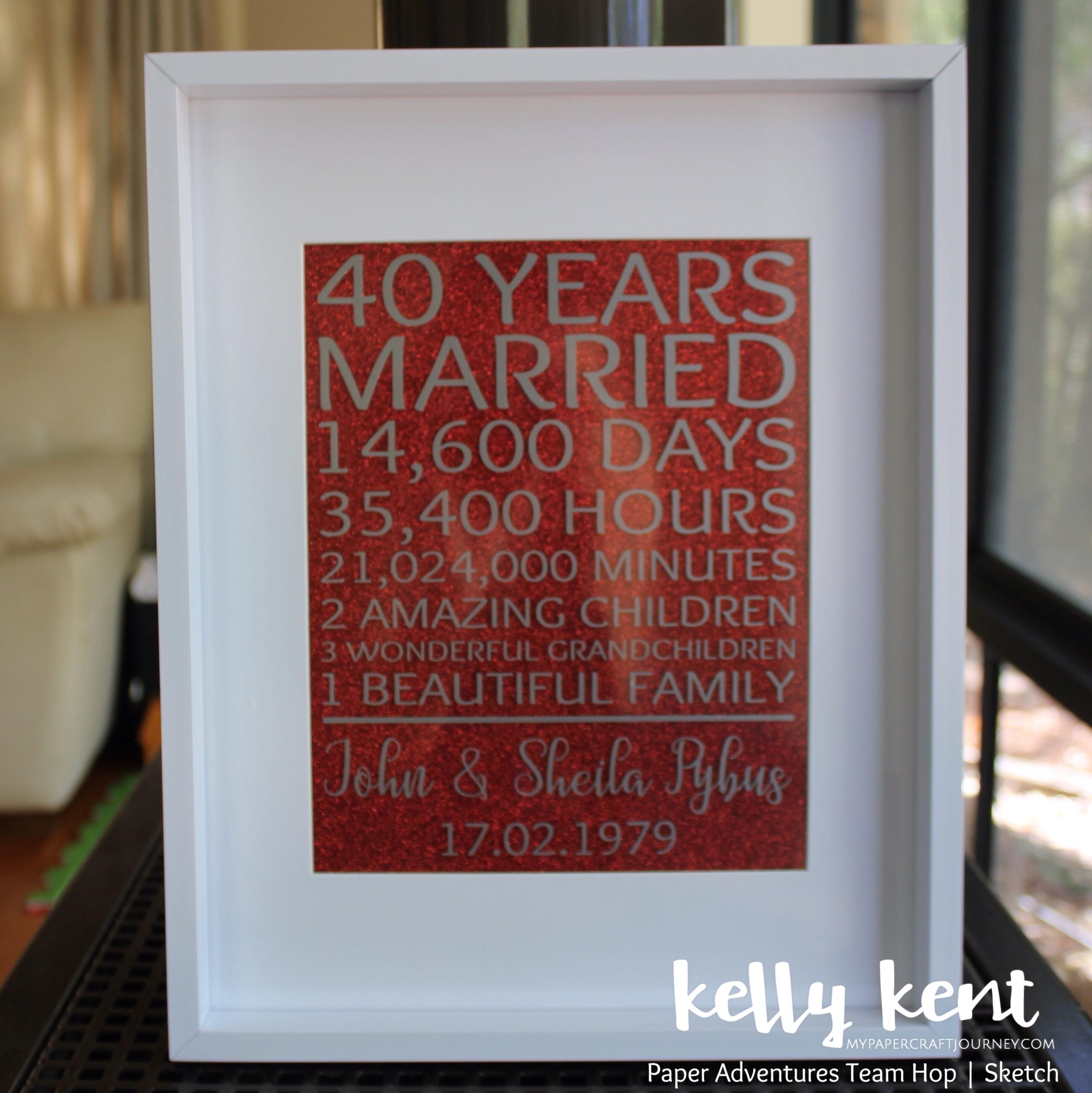 Fortieth Wedding Anniversary | kelly kent