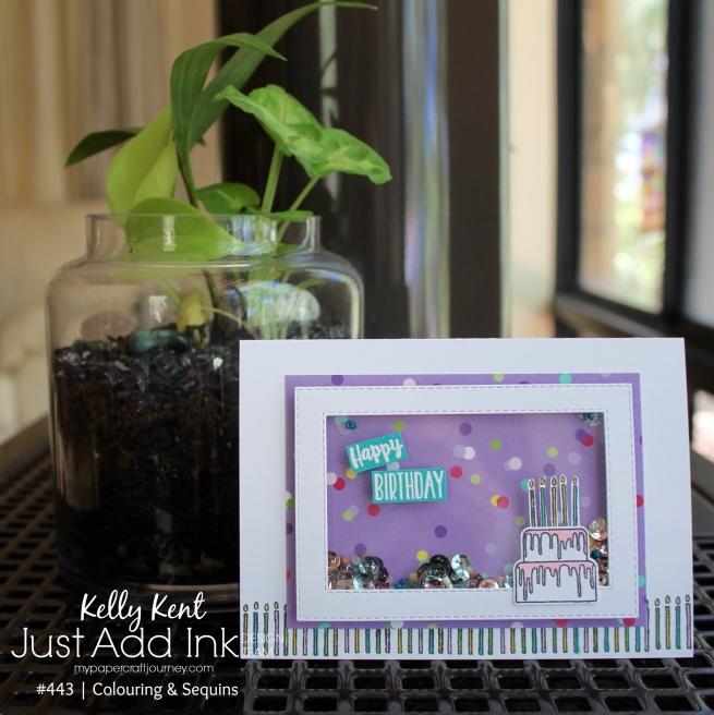 Piece of Cake Shaker Card | kelly kent