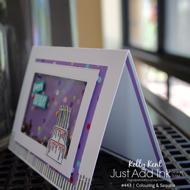 Piece of Cake Shaker Card | kelly kent
