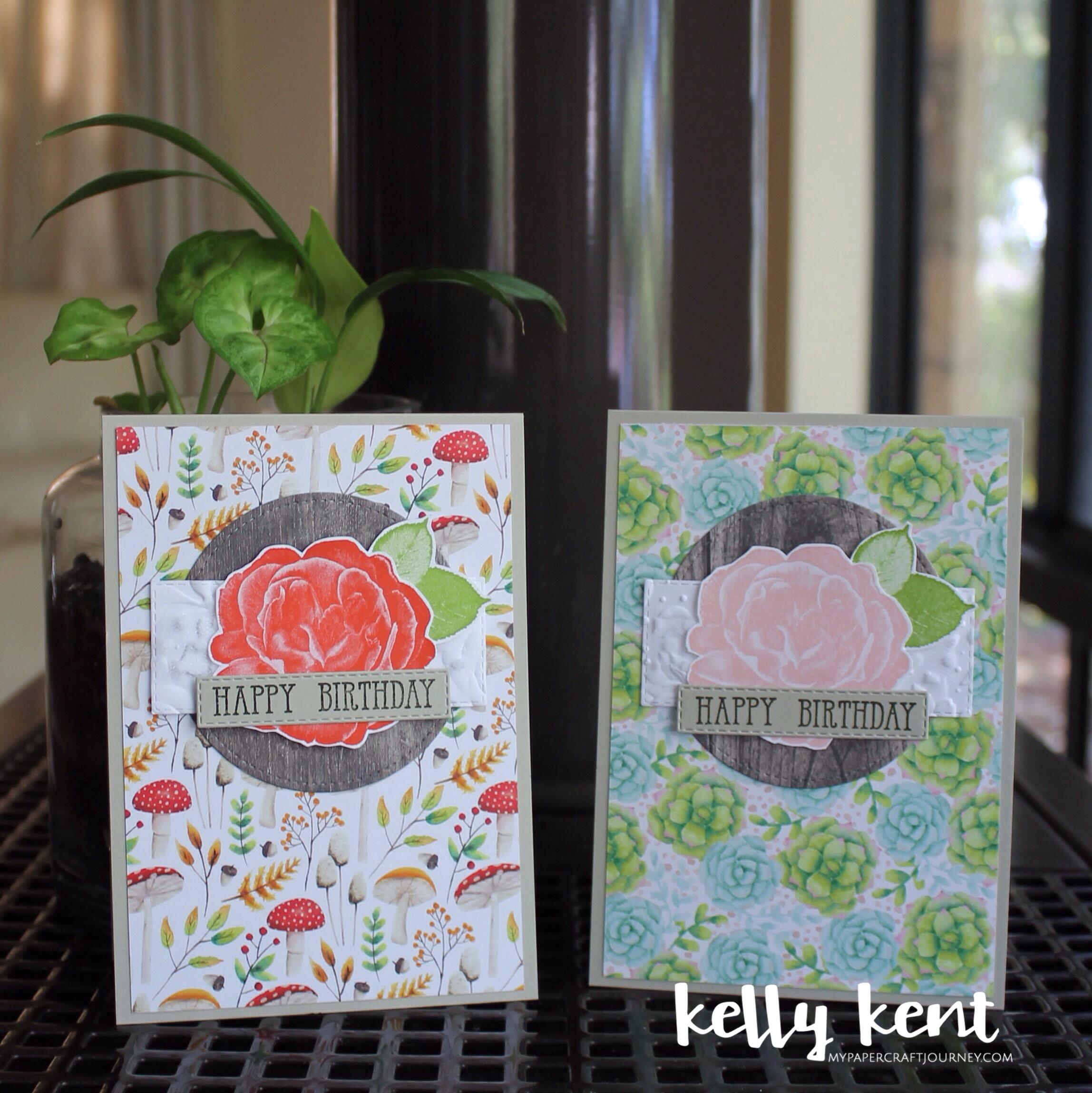 Painted Seasons DSP + Healing Hugs stamp set | kelly kent