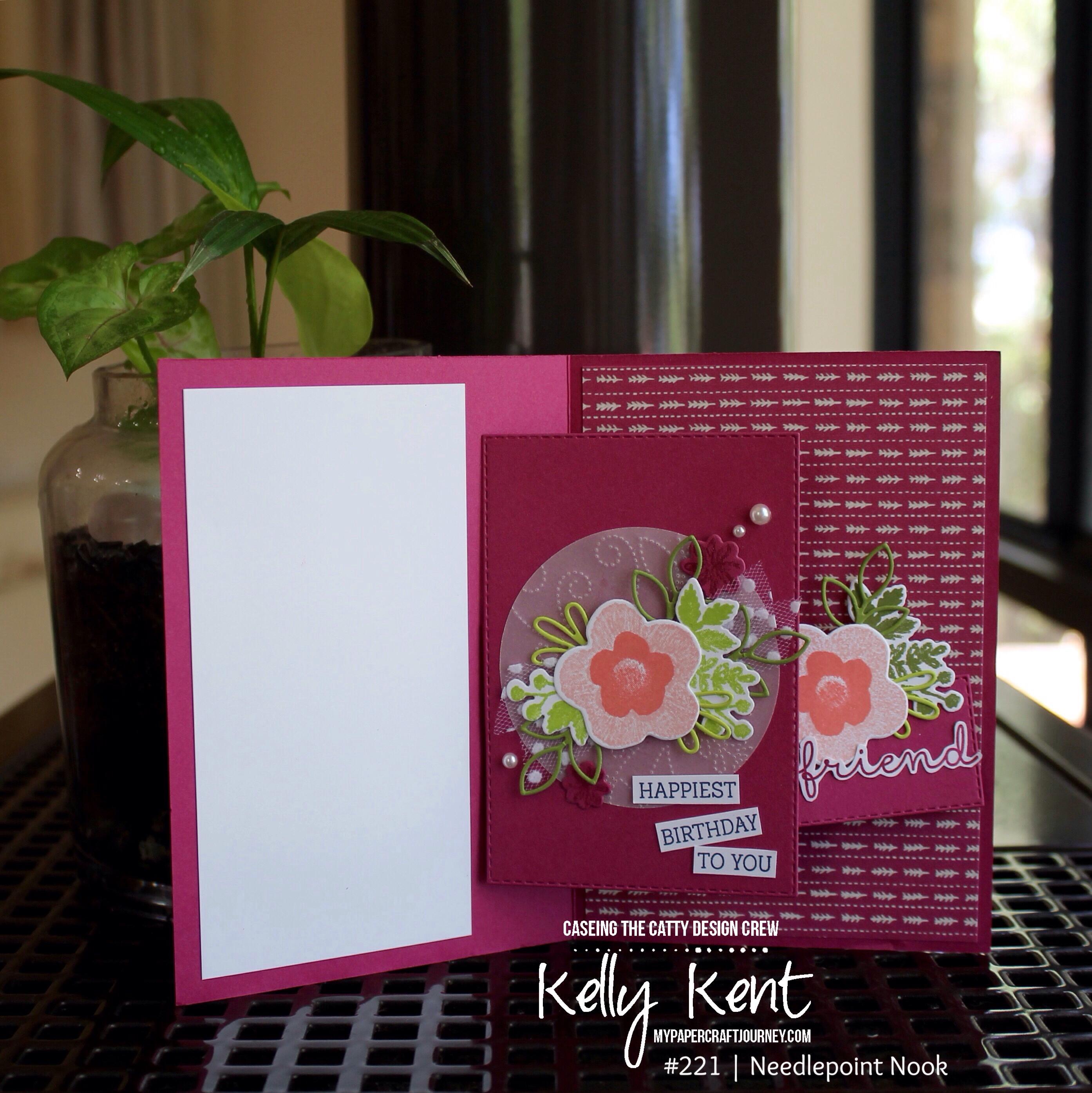 Needlepoint Nook Spinner Pop Up Card | kelly kent