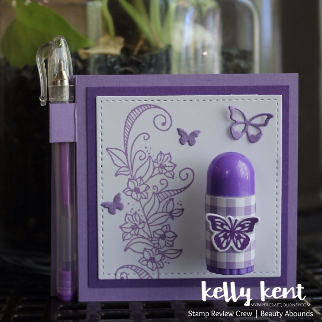 Butterfly Post It Note Holder w Pen | kelly kent