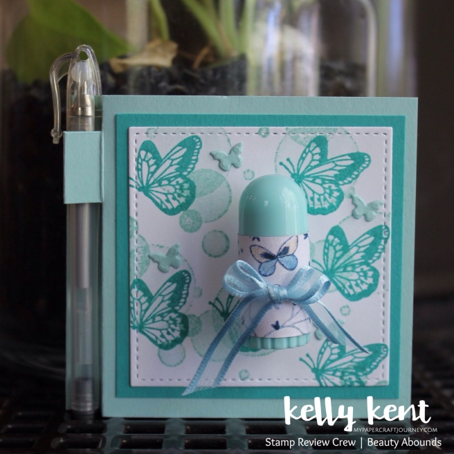 Butterfly Post It Note Holder w Pen & Lip Balm| kelly kent