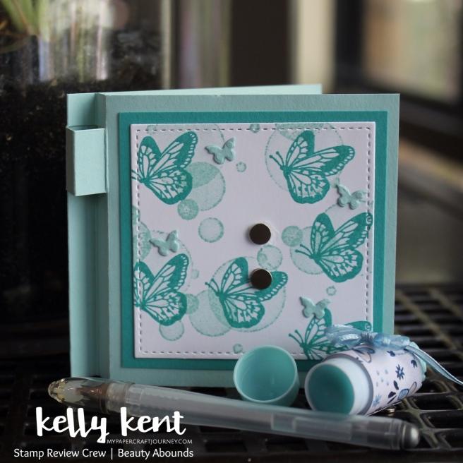 Butterfly Post It Note Holder w Pen & Lip Balm| kelly kent