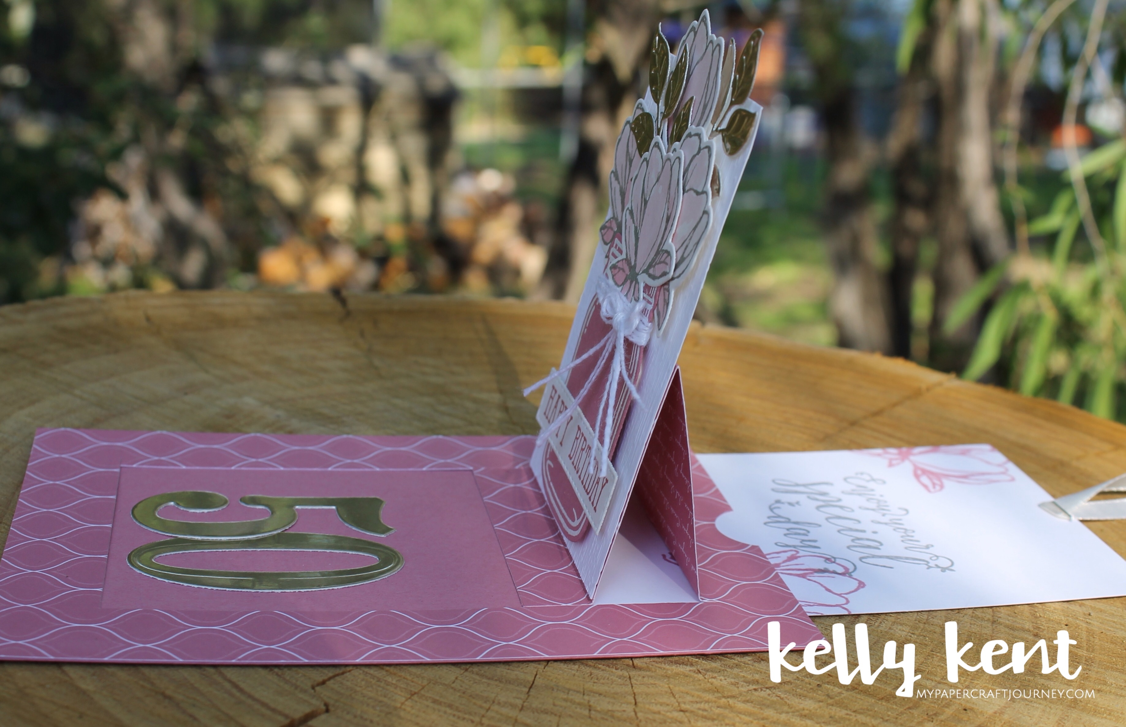 Rococo Rose Pop Up Slider Card | kelly kent