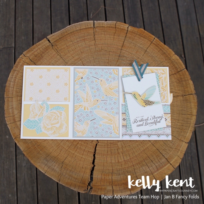 Mosaic Mood Tri Fold Pocket Card | kelly kent
