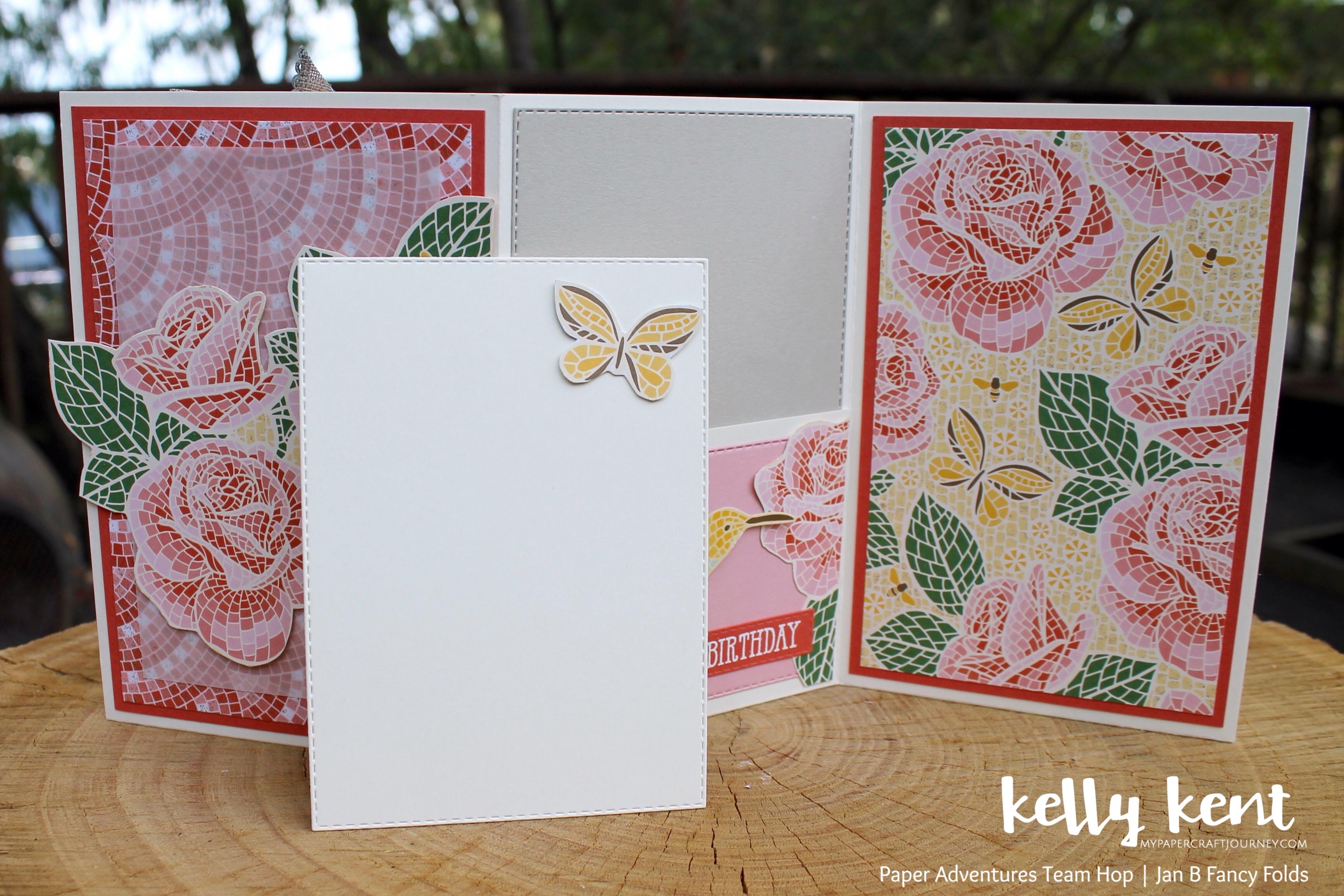Mosaic Mood Tri Fold Pocket Card | kelly kent