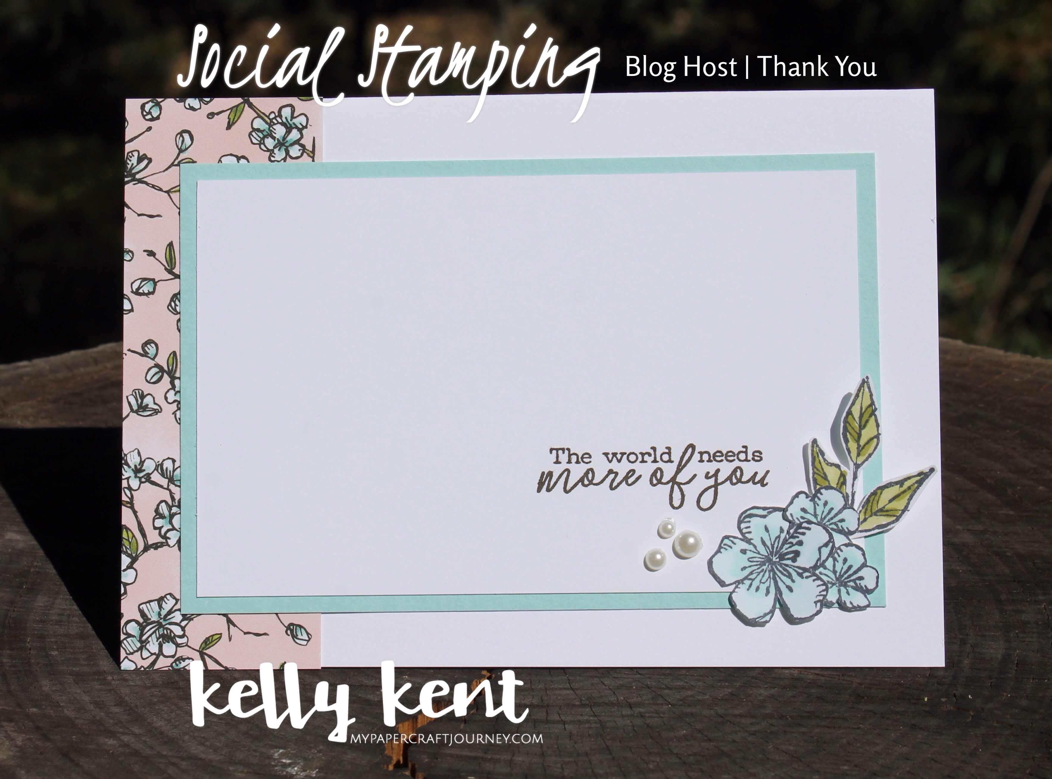 Social Stamping thank you | kelly kent