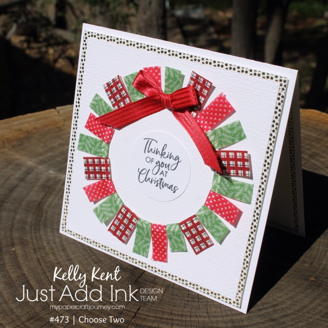 Christmas Washi Wreath | kelly kent