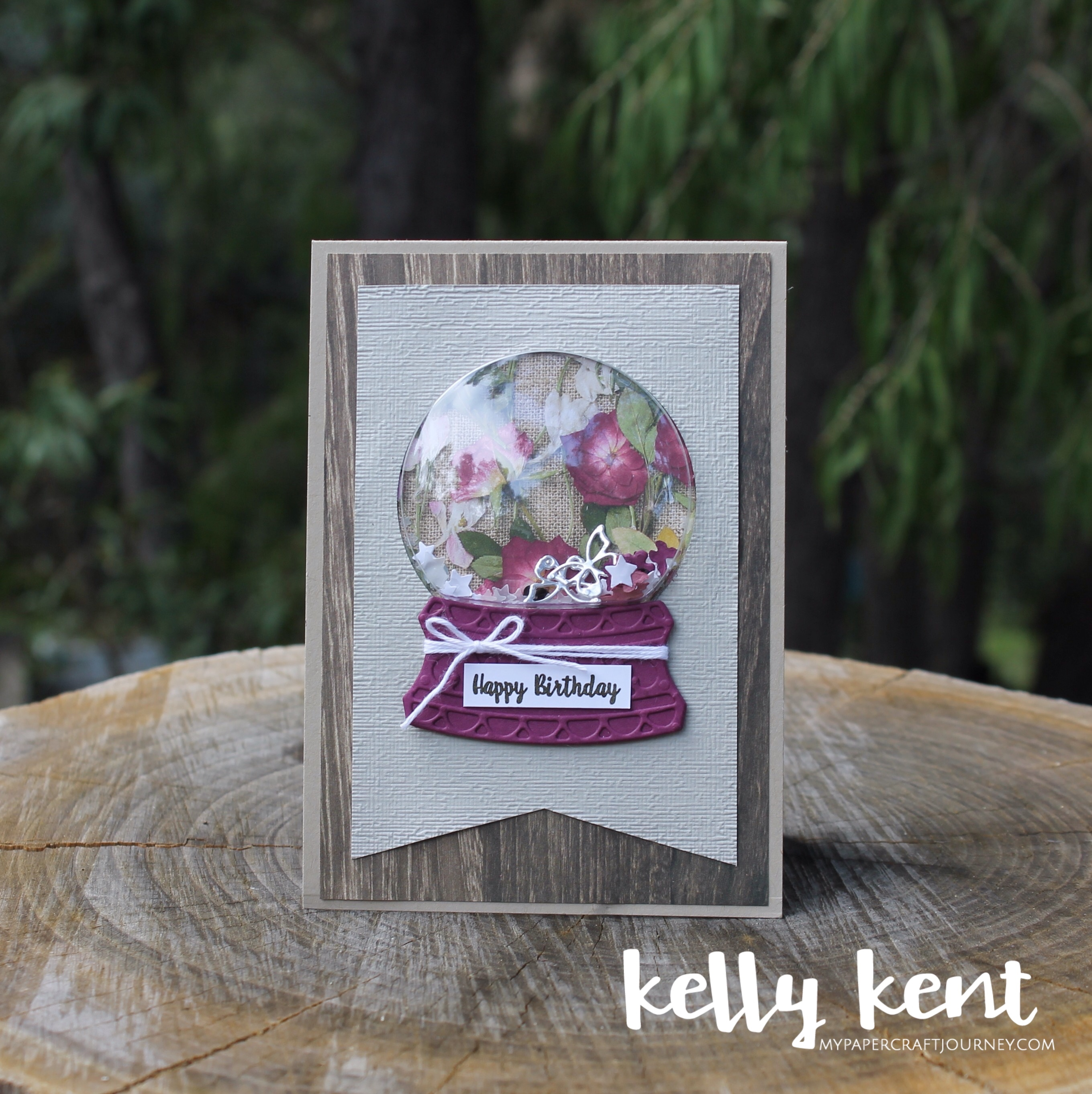 Pressed Petals Snow Globe | kelly kent