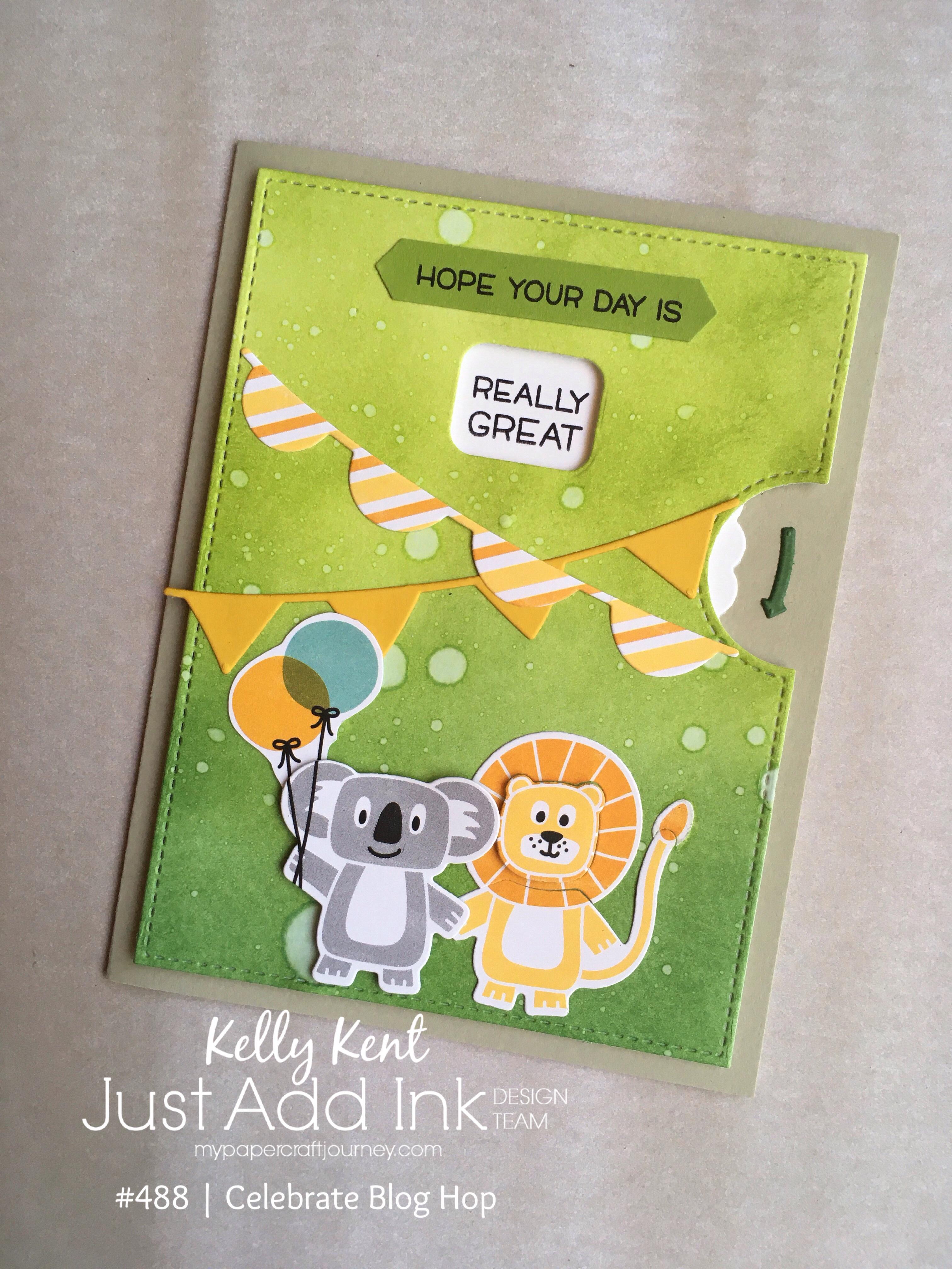 Birthday Bonanza Reveal Wheel card | kelly kent