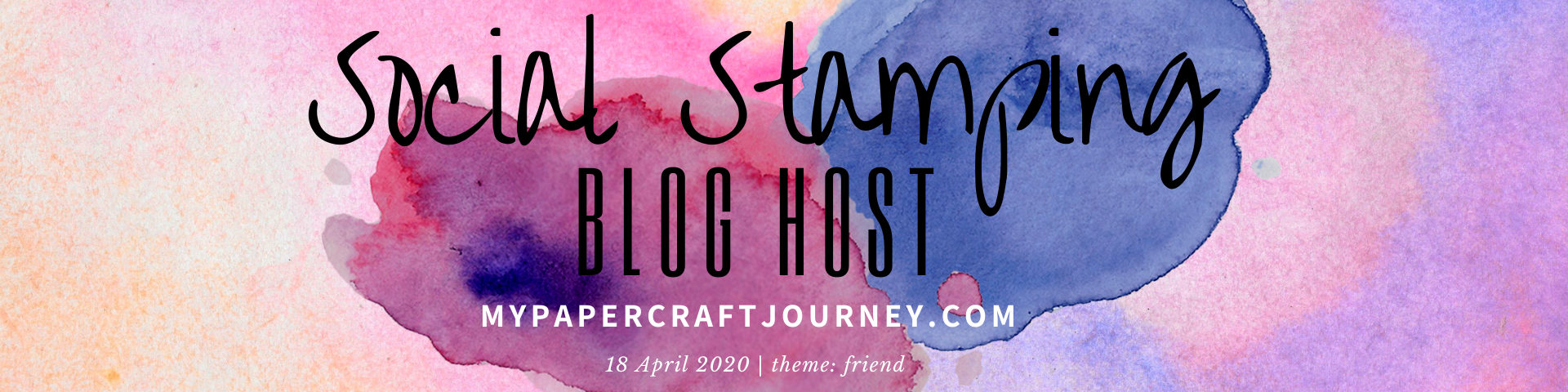 Social Stamping Blog Host Header 18 April friend