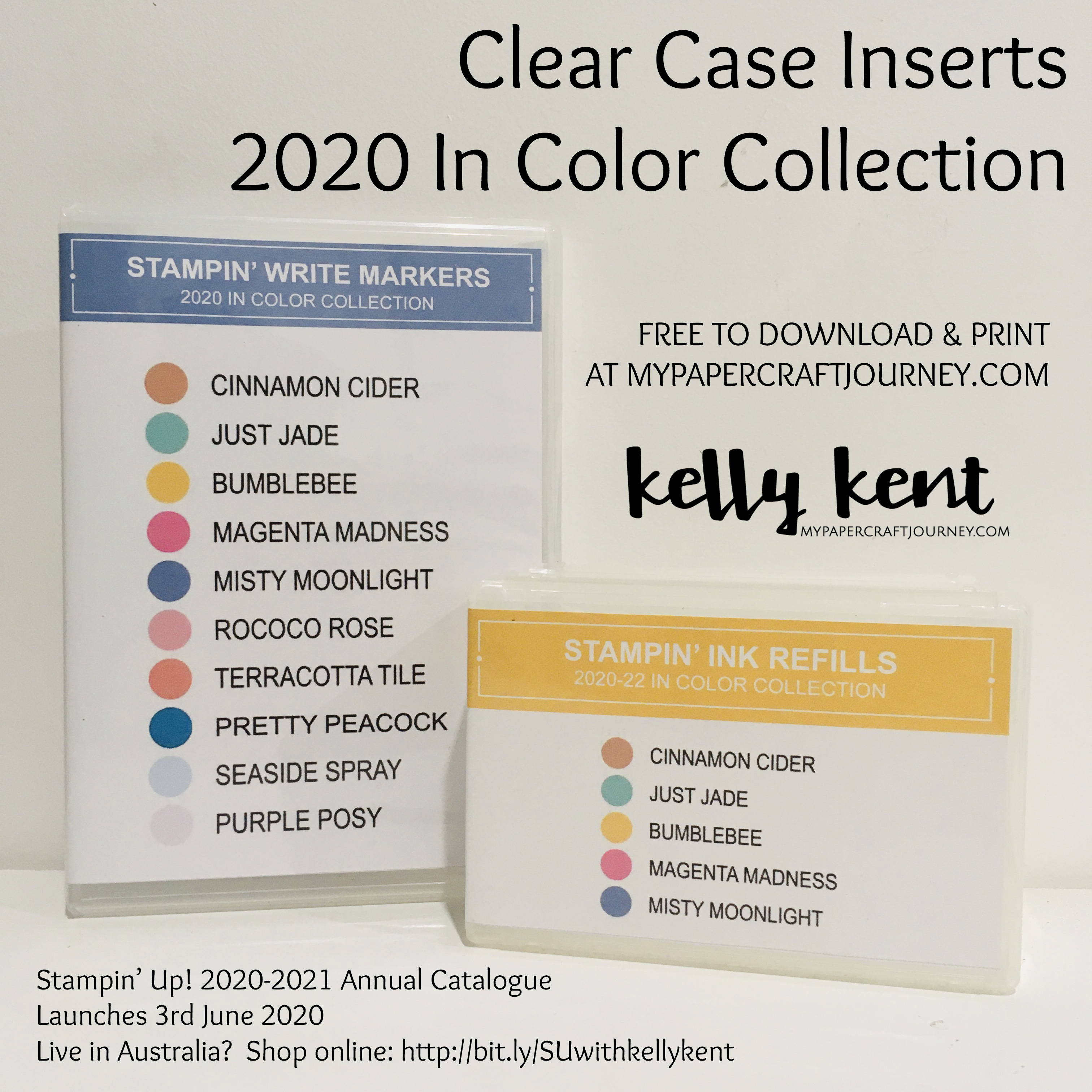 Clear Case Inserts - 2020 In Colors | kelly kent