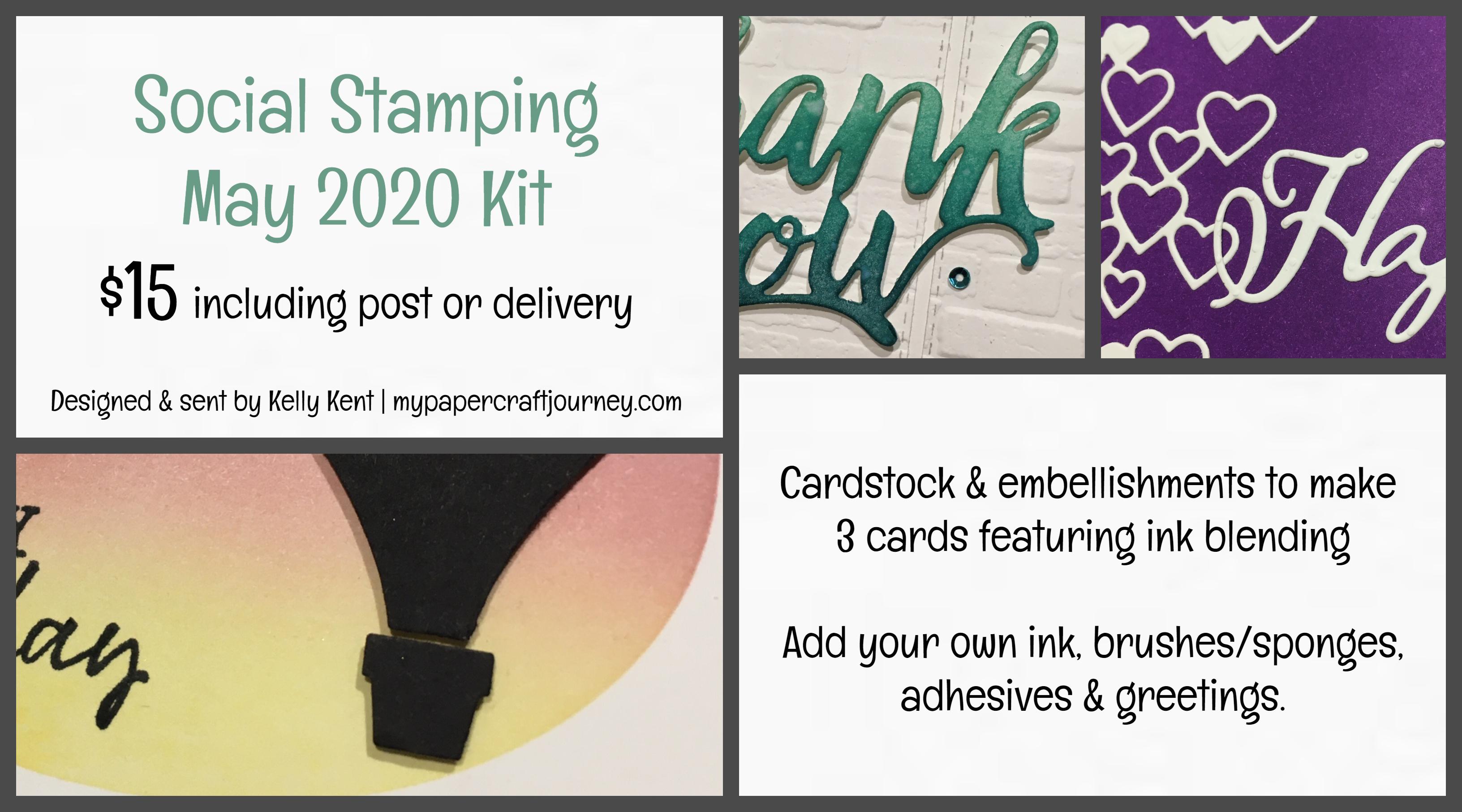 Social Stamping May Kit   kelly kent