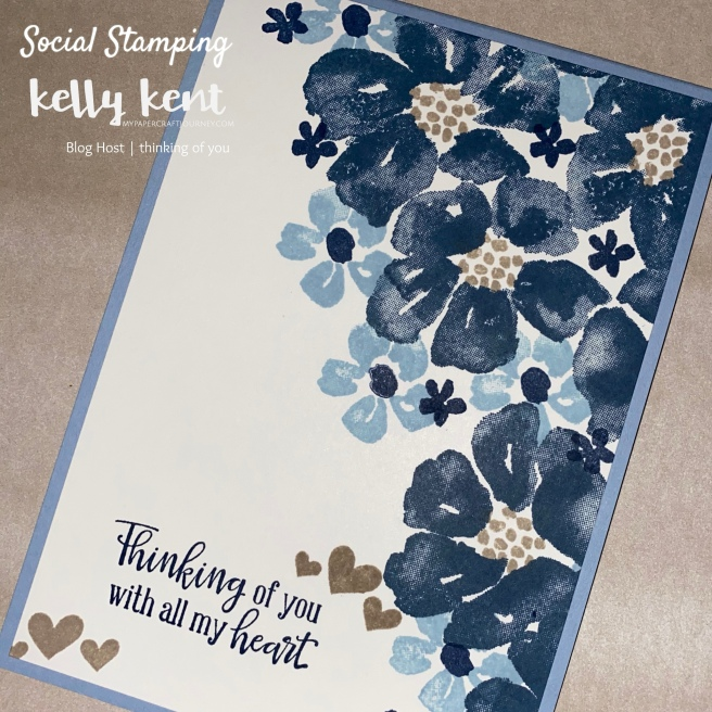 Split Card - Blossoms in Bloom | kelly kent