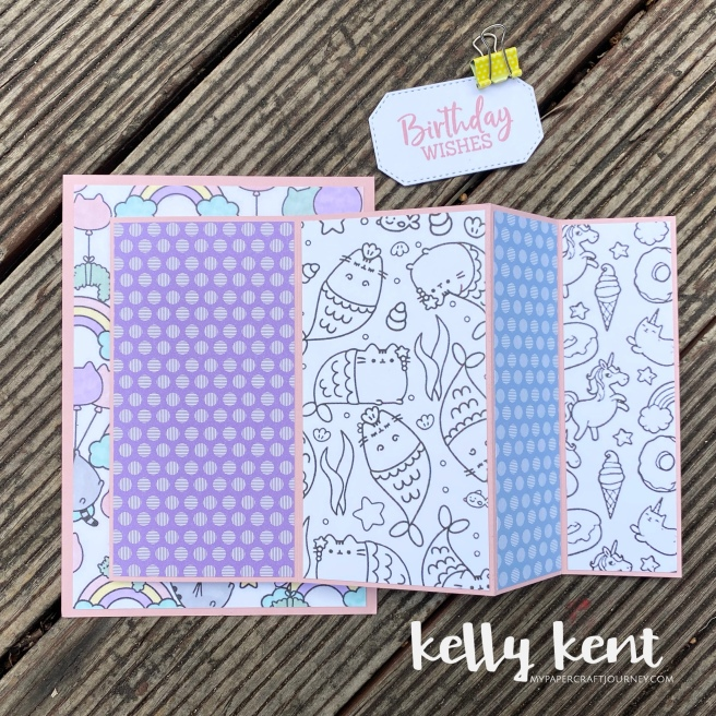 Accordion Colouring Card | kelly kent