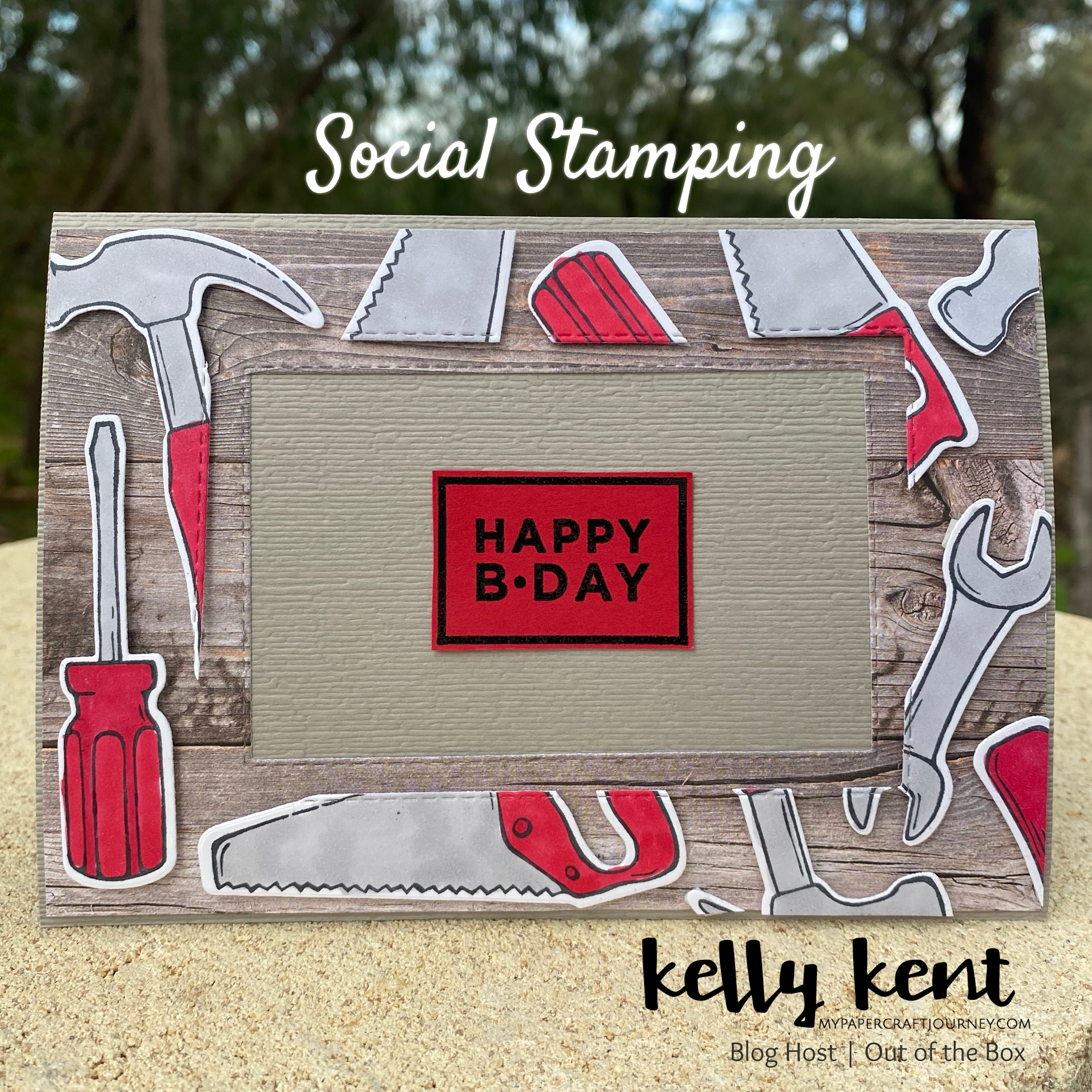 Nailed It Floating Frame Card | kelly kent