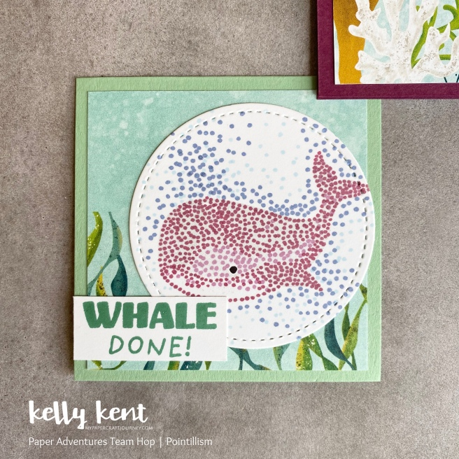 Whale Done - pointillism | kelly kent